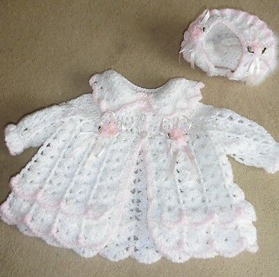 Gorgeous Baby Girls Matinee Cat & Hat, Age 3 - 6 Months