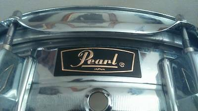 "Pearl 14"" X 5"" steel shell snare drum made in Japan."
