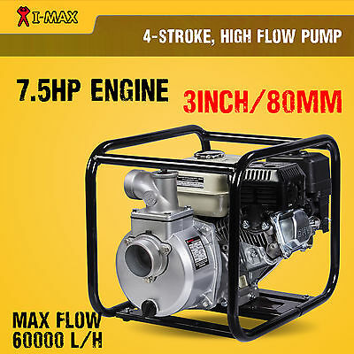 "New 3 Inch 3"" Petrol High Flow Water Transfer Pump Fire Fighting Irrigation"