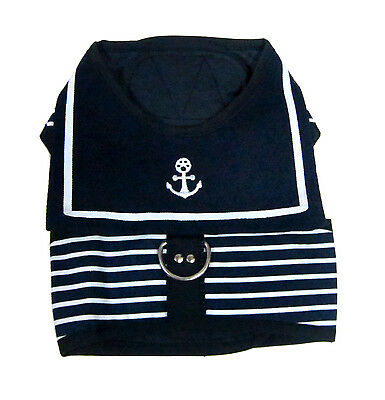 Dog Outfit Cute T Shirt Small Dog Harness Outfit Sailor Novelty Fancy Dress