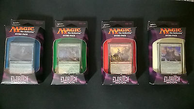 4 different Eldritch moon intro packs (two boosters come with each deck)