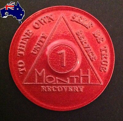 AA alcoholics anonymous 1 Month (30 days) recovery sobriety coin token medallion
