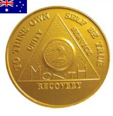 AA alcoholics anonymous 2 month (60 days recovery) sobriety coin token medallion