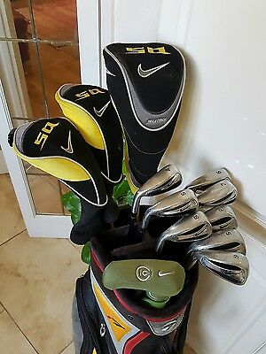 Superb Full Set Of Golf Clubs Nike Sq Sumo Woods And Slingshot Irons Left Handed