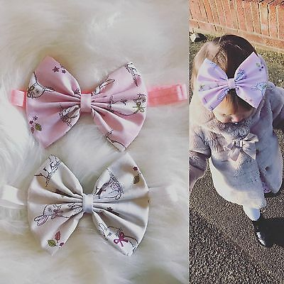 Baby Girl Headbands Bunny Ears Rabbit Bow Fabric Newborn Toddler Easter +lot