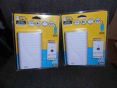 HPM Wireless Door Chime Up to 70 NEW