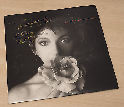 A Very Rare Kate Bush Signed Copy Of The Sensual World Vinyl LP.