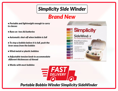 Portable Bobbin Winder Simplicity SideWinder Fast Delivery UK Stock Free Deliver