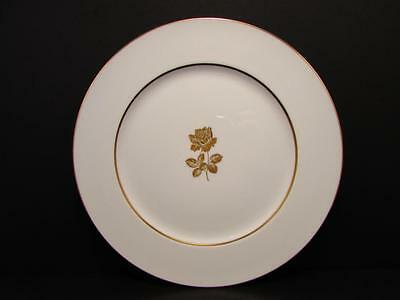 "Gold Rose by Sango 10-5/8"" Dinner Plate Two Tone Gold Rose Smooth L19"