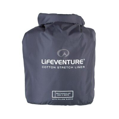 Lifeventure Cotton Stretch Sleeping Bag Liner with Pillow Insert