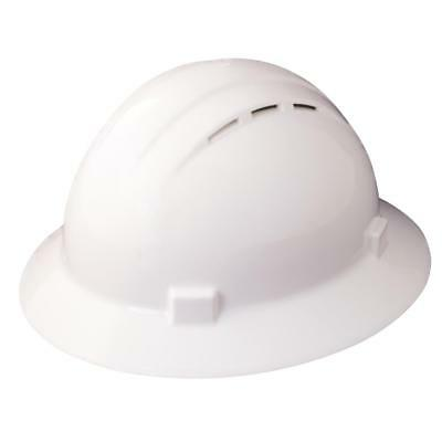 ERB Safety Products 19431 Americana Full Brim Vent Hard Hat with Ratchet Suspens