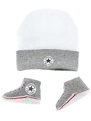 Converse Baby All Star Tricot Bottines And Hat 2 Pièces Ensemble Gris