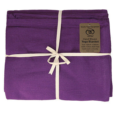 Fitness Mad Yoga Mad Hand Woven Tight Folding Soft Indian Cotton Support Blanket