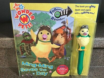 Wonder Pets Ming Ming Saves The Day Talking Pen And Book Very Rare!