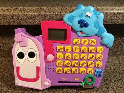 """2000 Blues Clues Mailbox Blues Clues Letter ID Letter Sound Find Button Toy 8"""""""