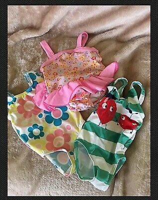 3 X 3-6months Swimming Costumes