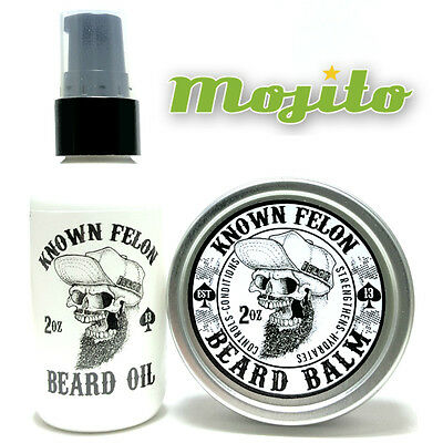 Known Felon 2oz Mojito Beard Oil and Beard Balm Combo Pack