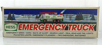 1996 Hess Toy Emergency Truck New In Box Never Opened - Free Priority Shipping