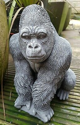 Gorilla Monkey Ape Handmade Cast Stone Garden Ornament Animal Statue