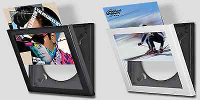 "12"" Vinyl Lp Record Display Frame (Black) ~ Interchangeable Display System"