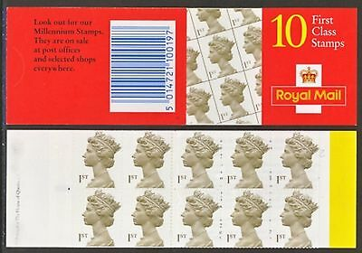 Hd52 10 X First Class Stamps Booklet