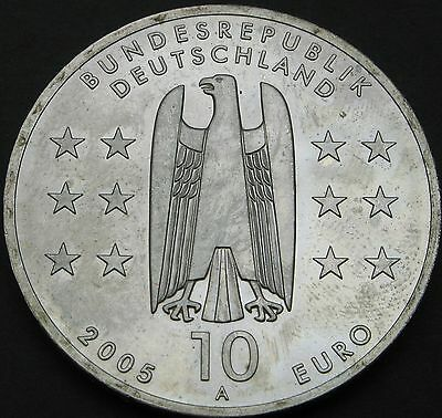 GERMANY 10 Euro 2005A - Silver - 1200 Years of Magdeburg - aUNC - 2150 猫