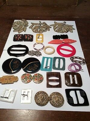 Collection Vintage Ladies Belt Buttons And Clips