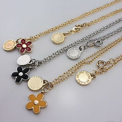 Marc By Marc Jacobs 3 Colors Flower Pendants Gold/sliver Necklace #n624X