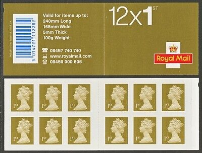 Mf5 12 X First Class Stamps Booklet Self Adhesive