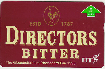 BT General 543 Beer, Directors Bitter, Gloucestershire fair, mint phonecard