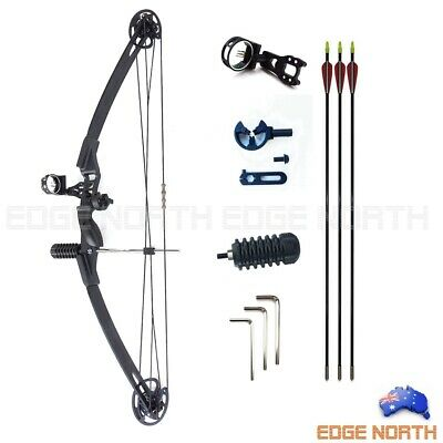 NEW 30-40LBS COMPOUND BOW BLACK ARCHERY HUNTING Target Arrows Kits Right Hand