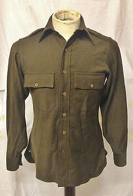 WW2 British Made US Army American Officers Shirt