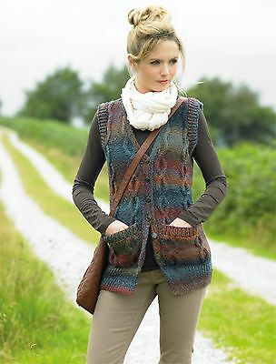 Knit Kit. Marble Chunky waistcoat with yarn and buttons. Sizes 28/30 or 32/34