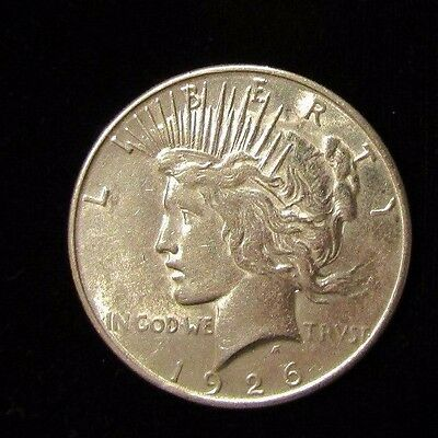 1926-S Peace Silver Dollar Uncirculated  No Reserve Bidding Starts @ 19.95