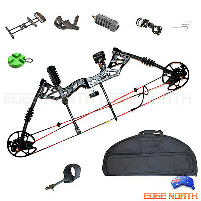 New Compound Bow 30-60lbs Archery Hunting Kit Right Hand Target Black Bag