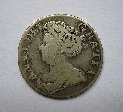 Queen Anne 1711 Silver Shilling Coin
