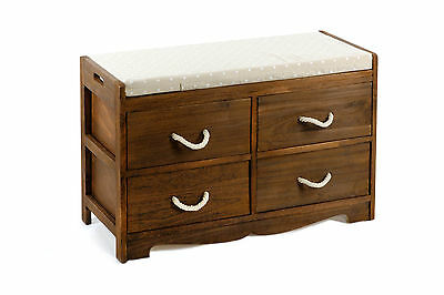 Revesby Storage Bench, Solid Wood Frame & Seat Cushion #N0175 - 1