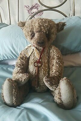 """NEW! RRP £190* 13"""" Vintage style, mohair, 'Austin' by Pipedream bears. BARGAIN!"""