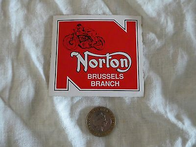 Norton Motorcycle Stickers,keyrings and badge, Various