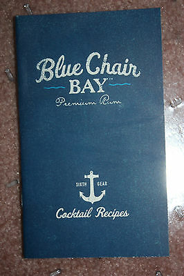 Kenny Chesney Blue Chair Bay Premium Rum Cocktail Recipes Booklet -Free Shipping