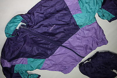 Adidas Trainings Anzug Jogging Track Jump Suit Vintage VTG Nylon Glanz Shiny 176