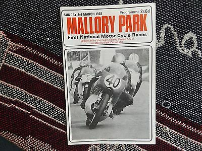 1968 Mallory Park Programme 3/3/68 - First National Motor Cycle Races