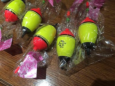 5 x Glow in the Dark 20g Fishing Floats