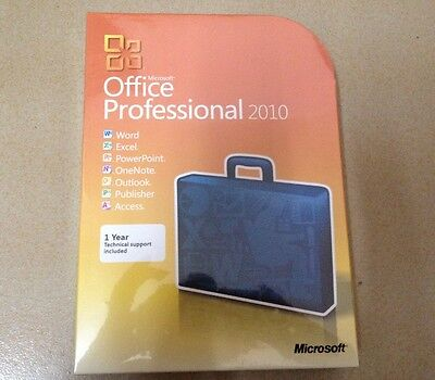 Genuine Microsoft Office Professional 2010 32/64 FULL PACKAGE!DVD SEALED IN BOX!