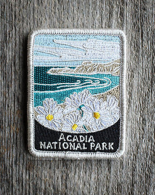 Acadia National Park Souvenir Patch Traveler Series Iron-on Maine