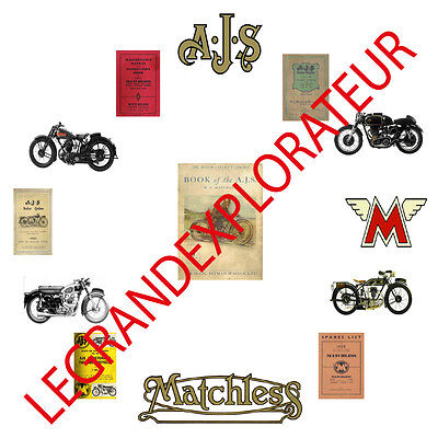 Ultimate AJS & Matchless Operation Service manual Collection Library 440 PDF DVD