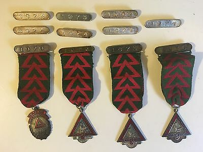 ROSC (Bus) Conducting & Driving Medals x4 & 7 Extra Date Bars