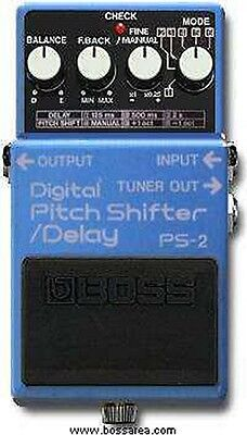 Boss Ps-2 Digital Pitch Shift Shifter Delay Effects Pedal Japan