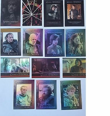 Game of Thrones Rittenhouse Archives Season 4 Mixed Parallel Chase Cards x14