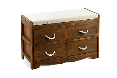 Revesby Storage Bench, Solid Wood Frame & Seat Cushion #N0175 - 2